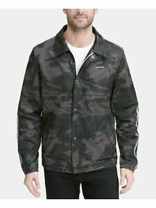 LEVI'S Mens Green Camouflage Zip Up Jacket XL