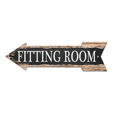 AP-0006 FITTING ROOM Arrow Street Tin Chic Sign Name Sign man cave Decor Gift
