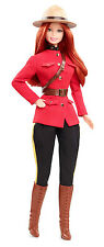 BARBIE DOLLS OF THE WORLD PASSPORT SERIES CANADA DOLL MOUNTED POLICE - *NEW*