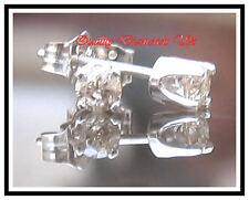 0.20 CARAT GENUINE DIAMOND STUD EARRINGS WHITE GOLD NEW !!!