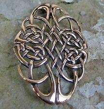 NEUES Modell Bronze Gewandspange Fibel GROSS Kelten Knoten Mittelalter mit Öse