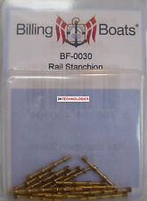 Billing BOATS Accessorio bf-0030 - 10 x 20mm OTTONE CORRIMANO Stanchions - 1 ° Post