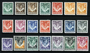 NORTHERN RHODESIA KG VI 1938-52 Full Giraffe & Elephants Set SG 25 to SG 45 MINT