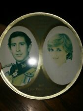 Commemorative Vintage Tin- Honor of Lady Diana & Prince Charles 1981 marriage