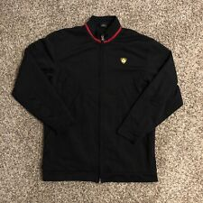 Jordan Mens Full Zip Track Jacket Large Black Gold Jumpman Shield 2005 EUC