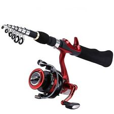 Spinning Fishing Rod Bd2000 Reel 1.65M Portable Travel Carbon Combo Fishing Pole