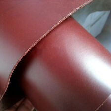 smooth genuine leather about 2mm square piece cowhide brown 8.7 * 14.1 inch YT08