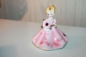 JOSEF ORIGINALS Birthstone Dolls Figurine January Garnet  Japan