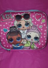 "LOL SURPRISE DOLL 3D Lunch Box School 9.5"" INSULATED BOUTIQUE  BAG  Miss BABY"