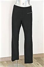 joli pantalon noir polyester stretch COP COPINE carrera taille L EXCELLENT ÉTAT