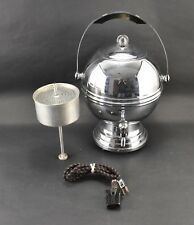 VINTAGE Labelle Silver Pot Belly Electric Coffee Percolator