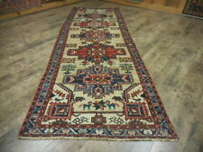 C1930 Vg Dy Antique Karache Serapi Heriz Viss 3.4x10 Estate Sale Rug