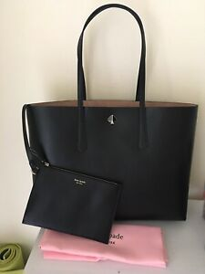 NWT Kate Spade New York Molly Large Tote Shoulder Bag In Black