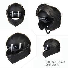 8 Colors Full Open Face Modular Flip Up Dual Visor DOT Motorcycle Street Helmet