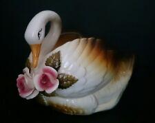 Vintage/retro Swan Planter Gloss glaze ceramic GC