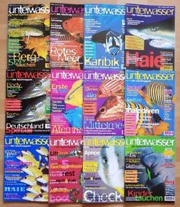 12x Unterwasser 1997 Jahrgang Zeitschrift Sport Meere Tiere Urlaub Tauchen