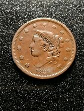 1838 - CORONET HEAD LARGE CENT - About XF