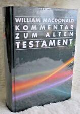 Kommentar zum Alten Testament William MacDonald ISBN/EAN: 9783893976577 CLV CSV