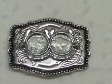 Bright Siver Buffalo Nickle  Buckle