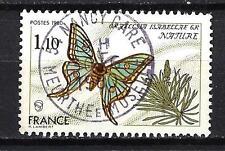 France 1980 papillon n° 2089 oblitéré 1er choix (3)
