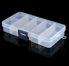 10 Slots Plastic Storage Box Organizer For Nail Tip Jewelry Earring act