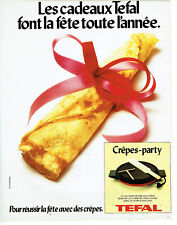Publicité Advertising 107  1979  Tefal  la  crepe-party