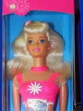 NEW! 1996 Mattel Flower Fun Blonde Barbie Doll Mint Sealed NIB NRFB Dress Shoes