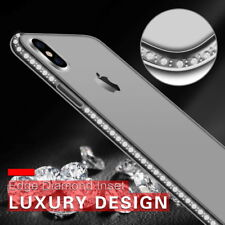 Crystal Diamonds Bumper Cover For iPhone X 8 7 6s Plus 5s Soft Rubber Clear Case