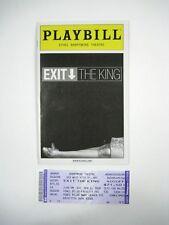 Exit the King Playbill 2009 Ethel Barrymore Theatre Geoffrey Rush Sarandon