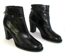 SAN MARINA Bottines boots talons 9 cm tout cuir noir 40 COMME NEUF