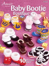 Baby Bootie Boutique Annie's Attic Potter 10 Crochet Patterns NEW Boots Sandals