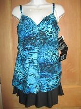 NEW MAGICSUIT Size 8 MIRACLESUIT TANKINI SWIMSUIT 2 PC Love Knot Blue Skirt
