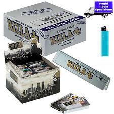 CARTINE LUNGHE RIZLA SILVER grigie 50 Pz + Filtri di carta Mad 4 City 80 Pz