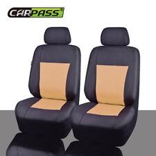 Universal Car Seat Cover Oxford Waterproof Airbag Auto Seat Protector BeigeBlack