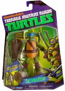 Teenage Mutant Ninja Turtles Battle Shell Leonardo Action Figure NEW 2013 Nick