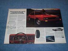 "1979 Mercury Capri RS Vintage 2pg Color Ad ""A Car that Can Handle."""