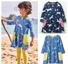 Vestidos de niña de 2 a 16 años de 100% algodón
