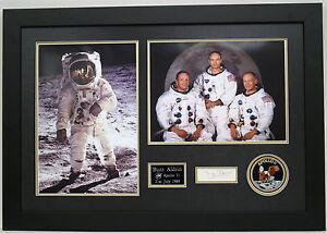 Buzz ALDRIN Signed Autograph FRAMED Apollo 11 Moonwalker Astronaut AFTAL COA