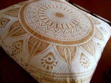 "35"" Square Floor Cushion Throw Pillow Case Decorative Pouf Indian Outdoor Boho"