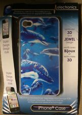 iPhone 4 Mobile Smart Phone Skin Case Protector (Aquatic Dolphin Design)