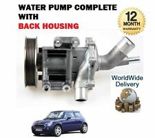 FOR MINI ONE + COOPER + S 1.6 + CABRIO 2001-2007 NEW WATER PUMP KIT COMPLETE
