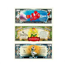 Set of 3 diff. Disney fantasy paper money currency