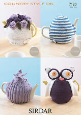 Sirdar Crochet & Knitting Pattern -  Teacosies Teacosy- 7120 - DK Double Knit