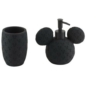 Disney Mickey Mouse Soap Lotion Dispenser and Toothbrush Holder Black