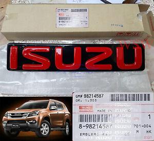 OEM Genuine Logo Isuzu Emblem Red Front Grille For Isuzu Mu-x Mux Dmax 12-19 13