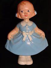 Antique Composition Dancing Girl Doll Double Nodder