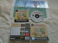 Civilization II 2 PS1 (COMPLETE + POSTER) rare strategy Sony Playstation