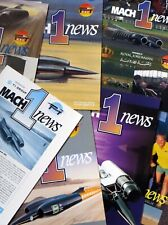 Richard Noble / Andy Green Thrust SSC Land Speed Record Mach 1 News Issues 1 - 7