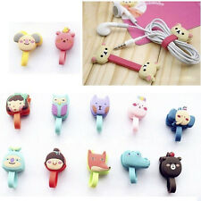 2ps Cute Cartoon Earphone Winder Cable Cord Organizer Holder Phone Cable Lb