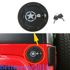 fit Jeep Wrangler JK 2007-17 Five Star Aluminum Fuel Cover Tank Gas Cap with Key